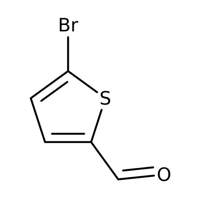 5-Bromo-2-thiophenecarboxaldehyde, 97%, ACROS Organics™ 25mL 5-Bromo-2-thiophenecarboxaldehyde, 97%, ACROS Organics™