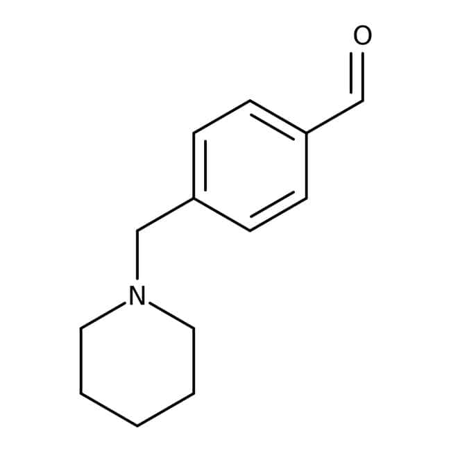 4-(piperidin-1-ylmethyl)benzaldehyde, 95%, Maybridge™ Amber Glass Bottle; 5g 4-(piperidin-1-ylmethyl)benzaldehyde, 95%, Maybridge™