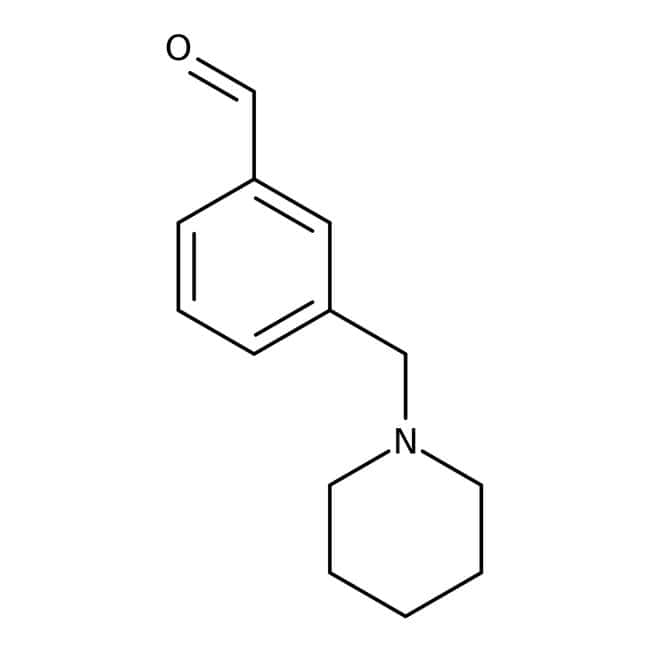 3-(Piperidinomethyl)benzaldehyde, ≥97%, Maybridge™ Amber Glass Bottle; 1g 3-(Piperidinomethyl)benzaldehyde, ≥97%, Maybridge™