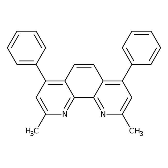 2,9-Dimethyl-4,7-diphenyl-1,10-phenanthroline, 98%, ACROS Organics™ 5g; Glass bottle 2,9-Dimethyl-4,7-diphenyl-1,10-phenanthroline, 98%, ACROS Organics™