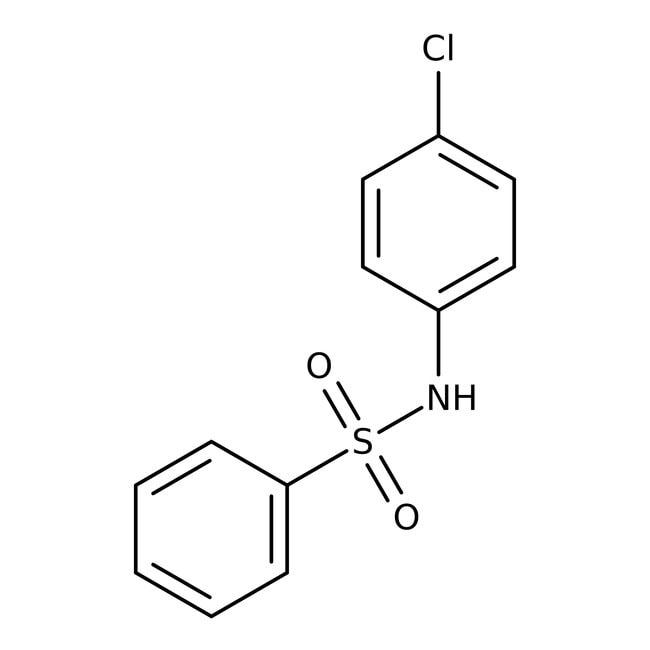 Alfa Aesar™N-(4-Chlorophenyl)benzenesulfonamide, 97% 250mg Alfa Aesar™N-(4-Chlorophenyl)benzenesulfonamide, 97%