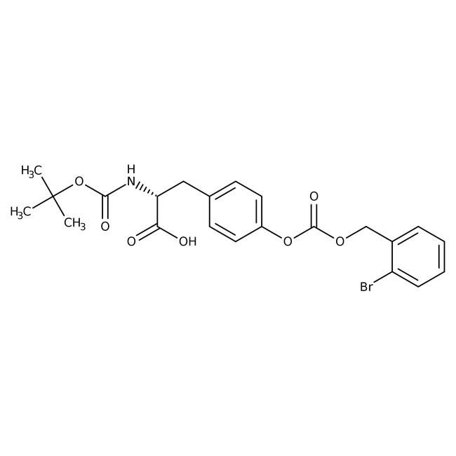 Alfa Aesar™Nalpha-Boc-O-(2-bromobenzyloxycarbonyl)-L-tyrosine, 99% 25g Alfa Aesar™Nalpha-Boc-O-(2-bromobenzyloxycarbonyl)-L-tyrosine, 99%