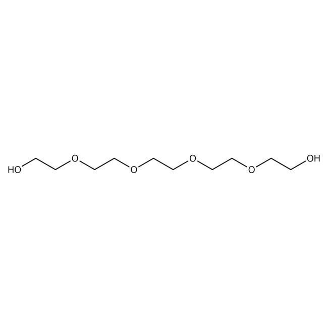 Pentaethylene glycol, 98%, ACROS Organics™ 5g; Glass bottle Pentaethylene glycol, 98%, ACROS Organics™