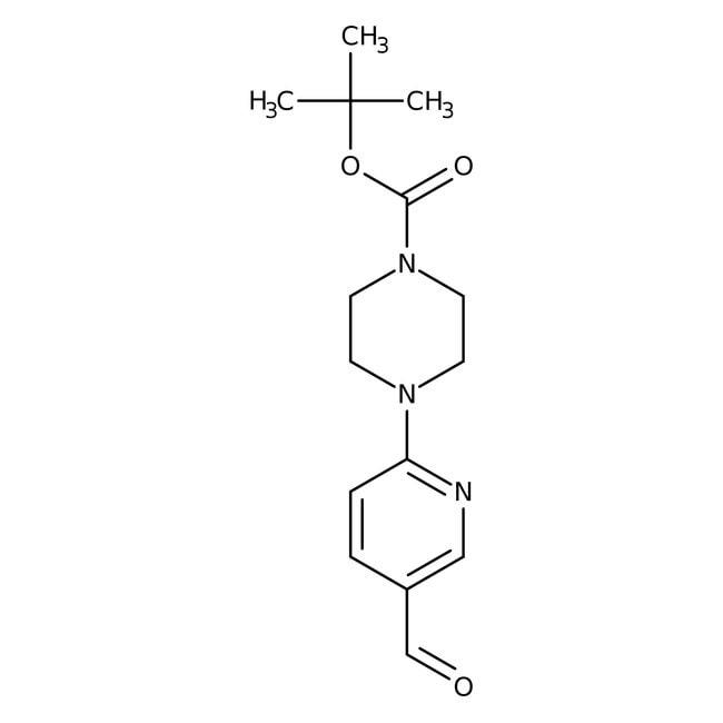 tert-butyl 4-(5-formylpyrid-2-yl)piperazine-1-carboxylate, 97%, Maybridge Amber Glass Bottle; 250mg tert-butyl 4-(5-formylpyrid-2-yl)piperazine-1-carboxylate, 97%, Maybridge