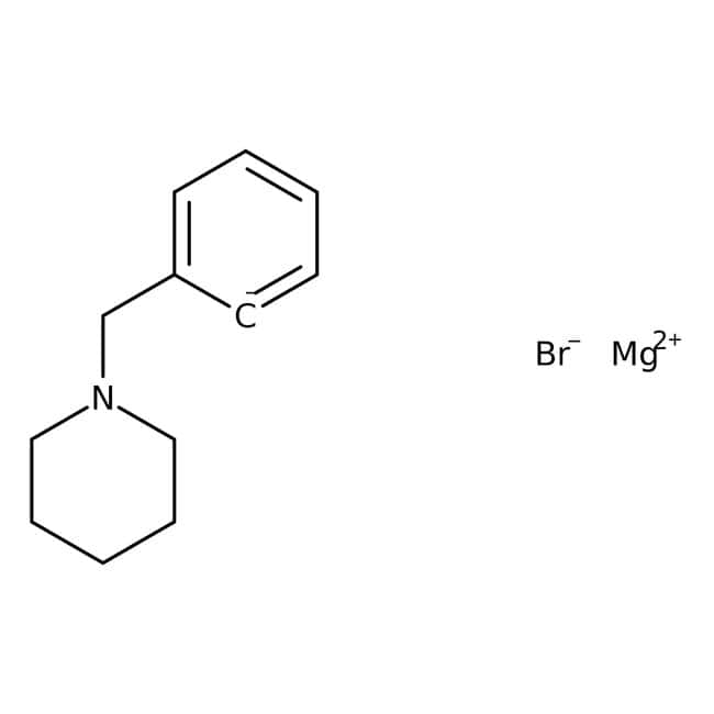 [2-(1-Piperidinylmethyl)phenyl]magnesium bromide, 0.25M solution in THF, AcroSeal , Acros Organics