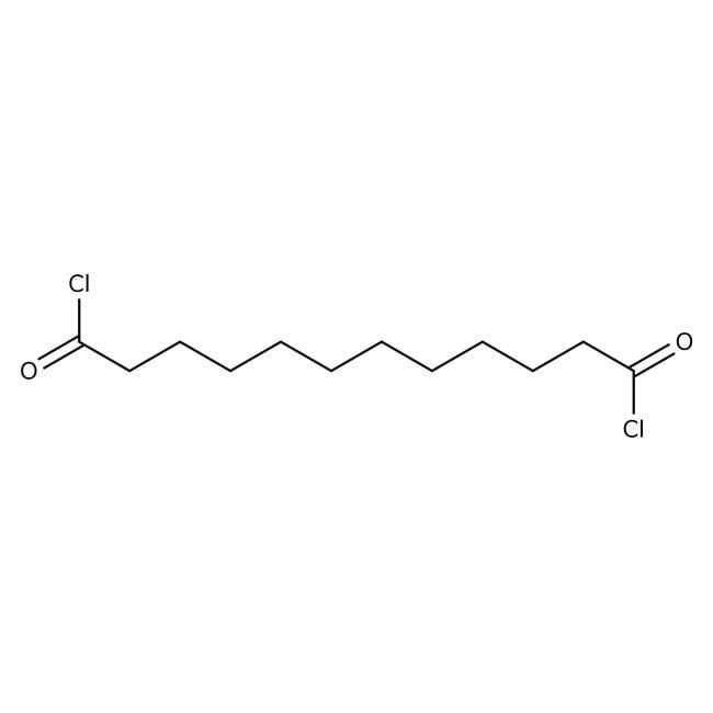 Dodecanedioyl dichloride, 98%, ACROS Organics™ 5g; Glass bottle Dodecanedioyl dichloride, 98%, ACROS Organics™