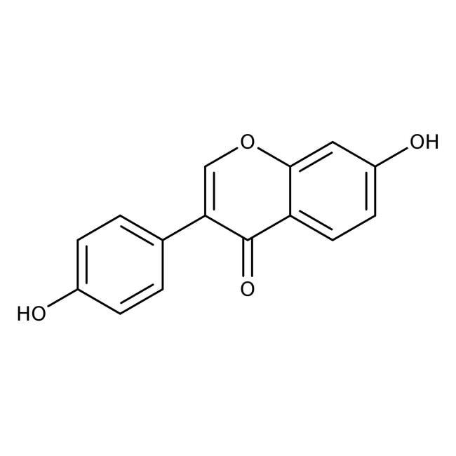 Daidzein, 98%, ACROS Organics™ 100mg; Glass bottle Daidzein, 98%, ACROS Organics™
