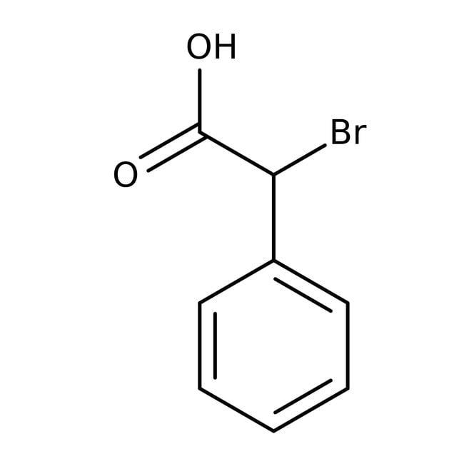 Acide DL-α-bromophénylacétique, 97%, ACROS Organics™ Flacon en verre; 25g Acide DL-α-bromophénylacétique, 97%, ACROS Organics™
