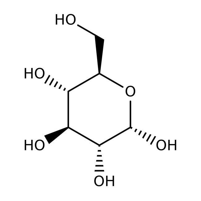 alpha-D(+)-Glucose, 99+%, anhydrous, ACROS Organics™ 1kg; Plastic bottle alpha-D(+)-Glucose, 99+%, anhydrous, ACROS Organics™
