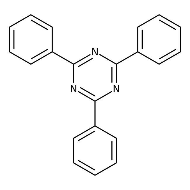2,4,6-Triphenyl-s-triazine, 99%, ACROS Organics™ 5g; Glass bottle 2,4,6-Triphenyl-s-triazine, 99%, ACROS Organics™