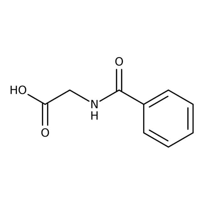 Hippuric acid, 98%, Acros Organics 2.5kg, Plastic bottle Hippuric acid, 98%, Acros Organics