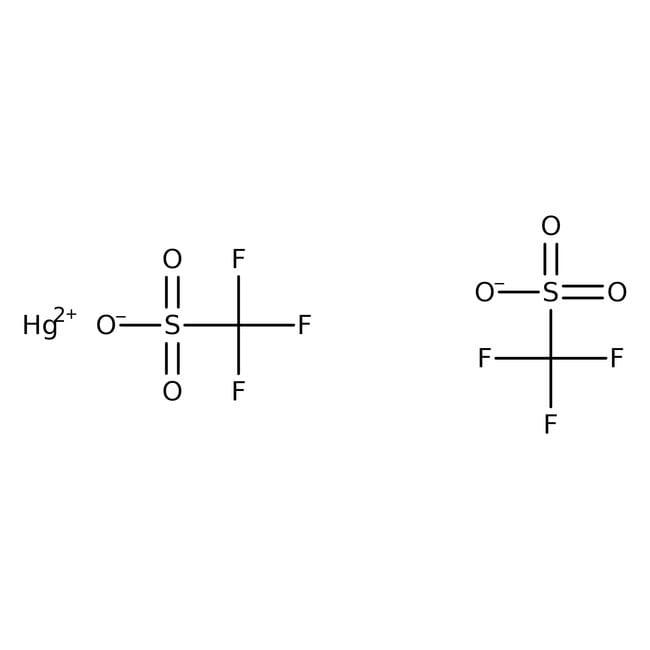 Alfa Aesar™Trifluorométhanesulfonate de mercure(II), 98% 5g Alfa Aesar™Trifluorométhanesulfonate de mercure(II), 98%