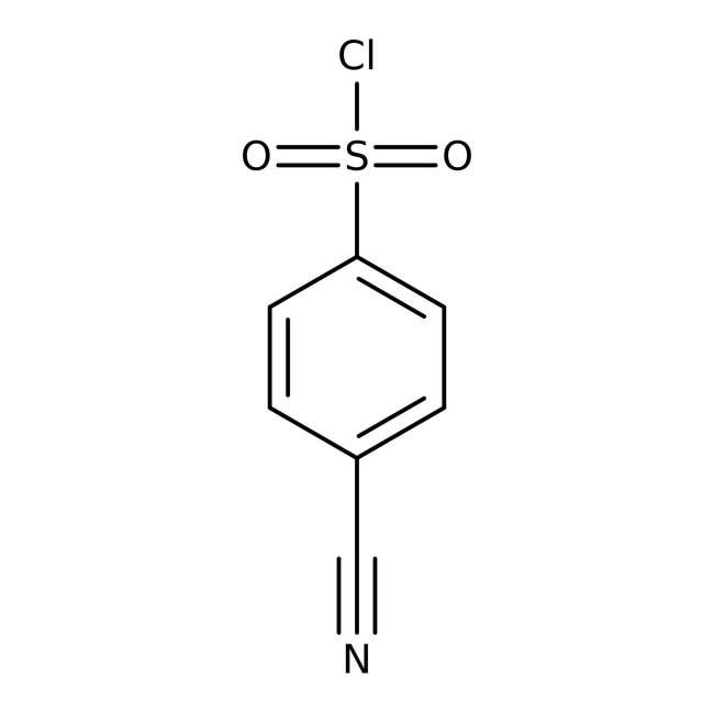 Alfa Aesar™4-Cyanobenzenesulfonyl chloride, 97% 25g Alfa Aesar™4-Cyanobenzenesulfonyl chloride, 97%