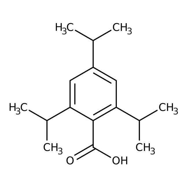 Alfa Aesar™Ácido 2,4,6-triisopropilbenzoico, 97% 10g Alfa Aesar™Ácido 2,4,6-triisopropilbenzoico, 97%