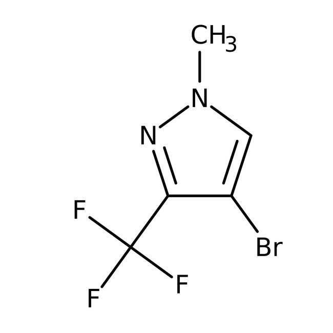4-Bromo-1-methyl-3-(trifluoromethyl)-1H-pyrazole, 97%, Maybridge™ Amber Glass Bottle; 1g 4-Bromo-1-methyl-3-(trifluoromethyl)-1H-pyrazole, 97%, Maybridge™