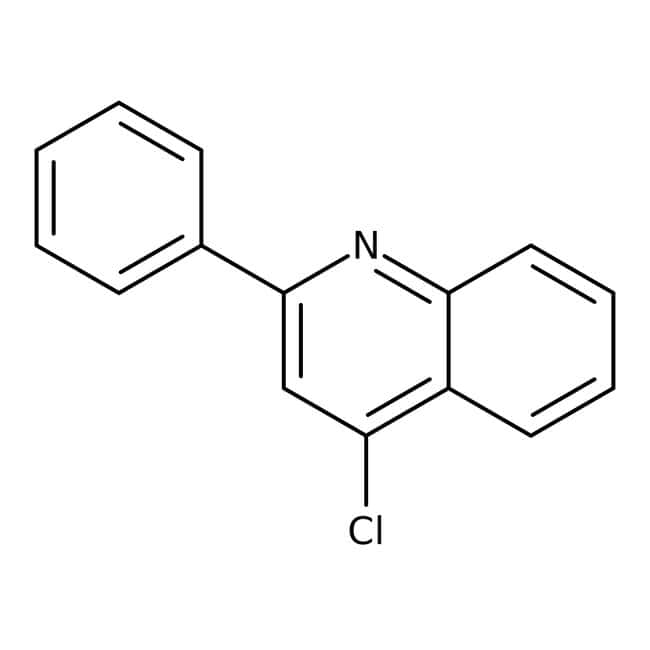 4-chloro-2-phénylquinoléine, 99%, ACROS Organics™ 2,5g; flacon en verre Construction des éléments hétérocycliques