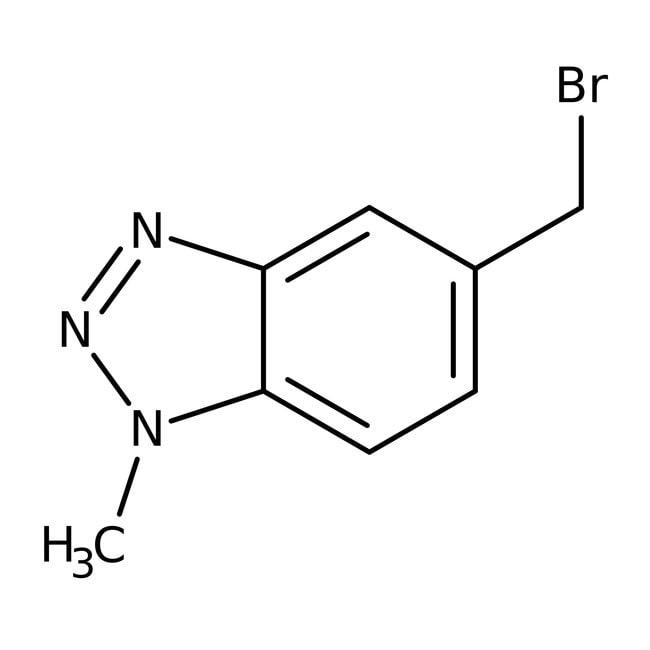 5-(Bromomethyl)-1-methyl-1H-1,2,3-benzotriazole, 90+%, Maybridge™ Amber Glass Bottle; 1g 5-(Bromomethyl)-1-methyl-1H-1,2,3-benzotriazole, 90+%, Maybridge™