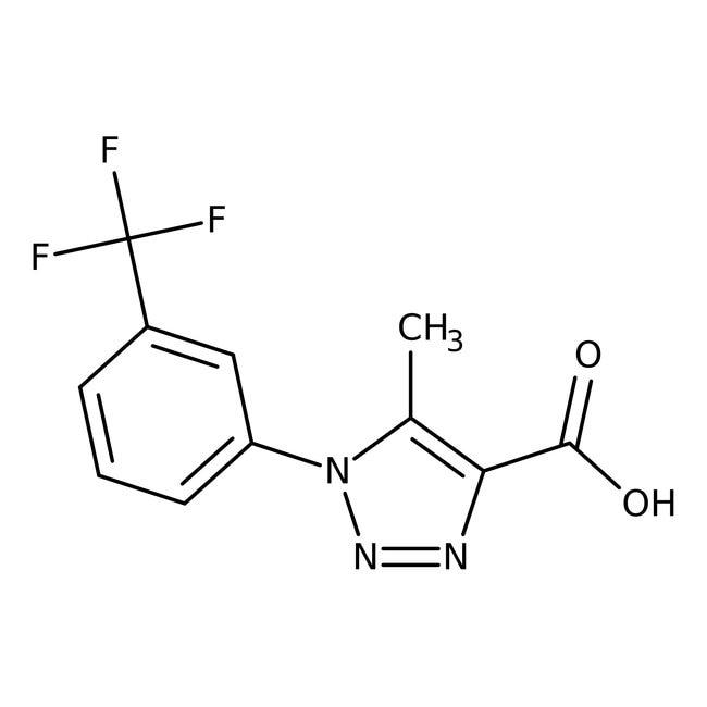 5-methyl-1-[3-(trifluoromethyl)phenyl]-1H-1,2,3-triazole-4-carboxylic acid, Maybridge 1g 5-methyl-1-[3-(trifluoromethyl)phenyl]-1H-1,2,3-triazole-4-carboxylic acid, Maybridge
