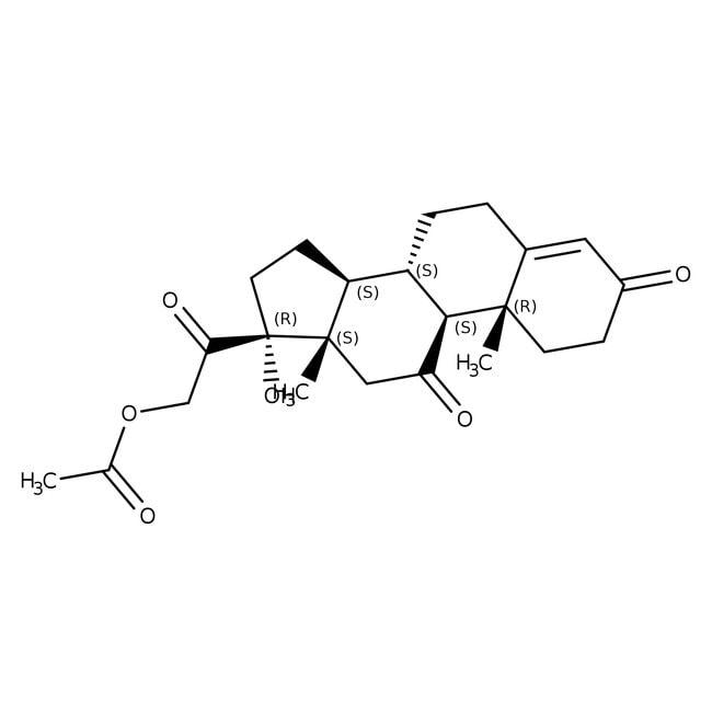 Cortisone 21-acetate, 98+%, Acros Organics 25g, Glass bottle Cortisone 21-acetate, 98+%, Acros Organics