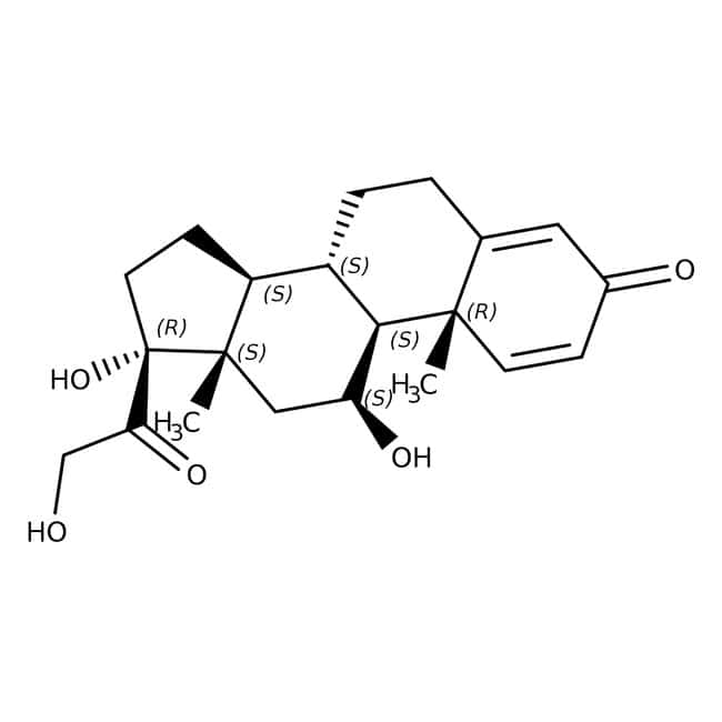 Prednisolone, 99%, Acros Organics: Hydroxysteroids Steroids and steroid derivatives