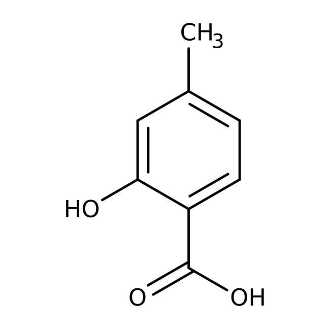 4-Methylsalicylic acid, 98%, ACROS Organics™ 25g; Glass bottle 4-Methylsalicylic acid, 98%, ACROS Organics™