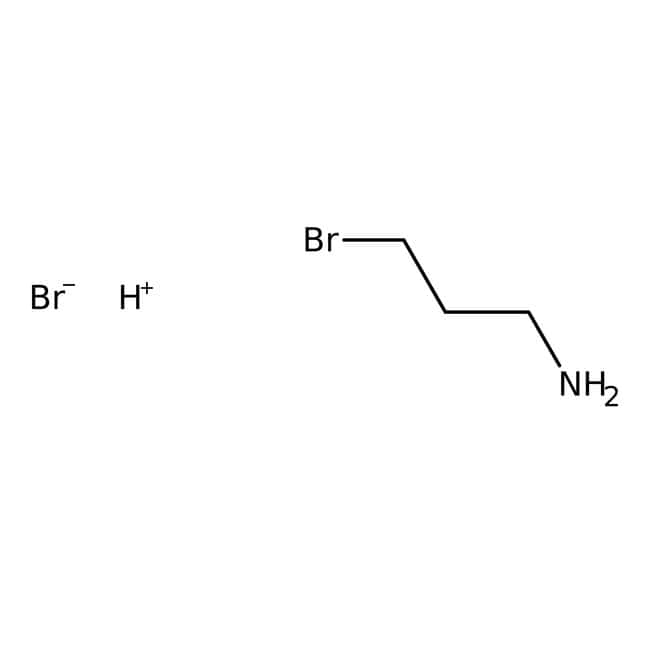 3-Bromopropylamine hydrobromide, 98%, ACROS Organics™ 25g; Glass bottle 3-Bromopropylamine hydrobromide, 98%, ACROS Organics™