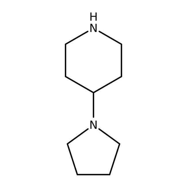 4-(1-pyrrolidinyl)pipéridine, 99%, ACROS Organics™ 5g; flacon en verre 4-(1-pyrrolidinyl)pipéridine, 99%, ACROS Organics™