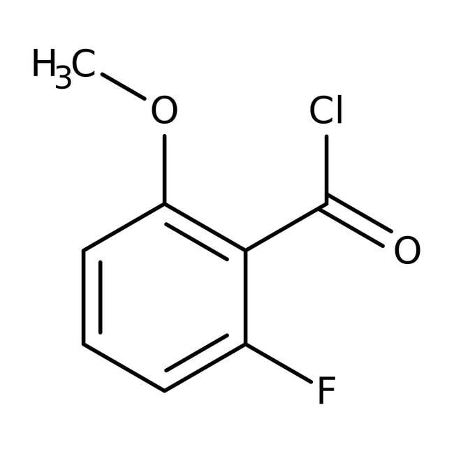 Alfa Aesar™2-Fluoro-6-methoxybenzoyl chloride, 98%: Halobenzoic acids and derivatives Benzoic acids and derivatives