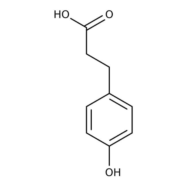3-(4-Hydroxyphenyl)propionic acid, 98%, ACROS Organics™ 100g; Glass bottle 3-(4-Hydroxyphenyl)propionic acid, 98%, ACROS Organics™