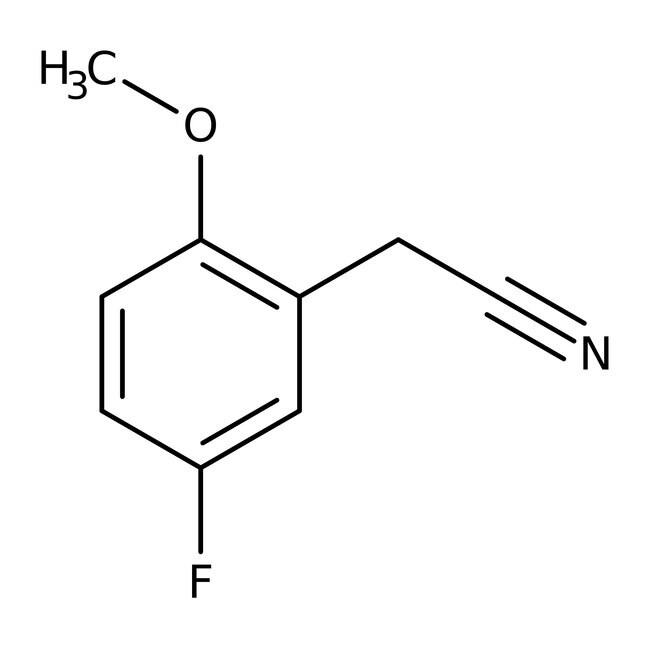 Alfa Aesar™5-Fluor-2-Methoxyphenylacetonitril, 97% 250mg Alfa Aesar™5-Fluor-2-Methoxyphenylacetonitril, 97%
