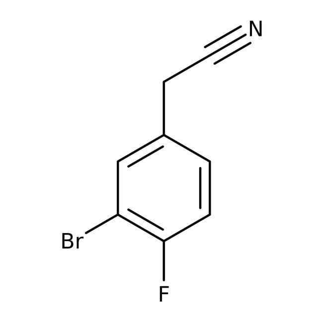 Alfa Aesar™2-(3-Bromo-4-fluorophenyl)acetonitrile, 96% 1g Alfa Aesar™2-(3-Bromo-4-fluorophenyl)acetonitrile, 96%