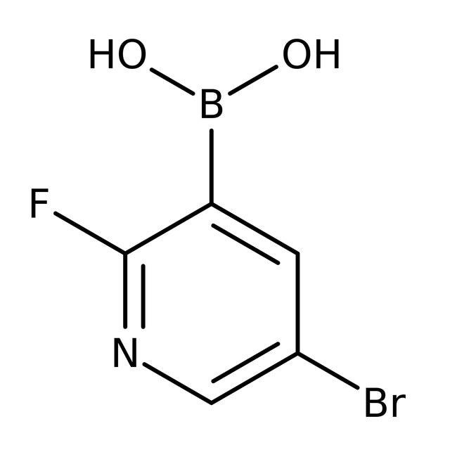 Alfa Aesar™5-Bromo-2-fluoropyridine-3-boronic acid, 98% 1g Alfa Aesar™5-Bromo-2-fluoropyridine-3-boronic acid, 98%
