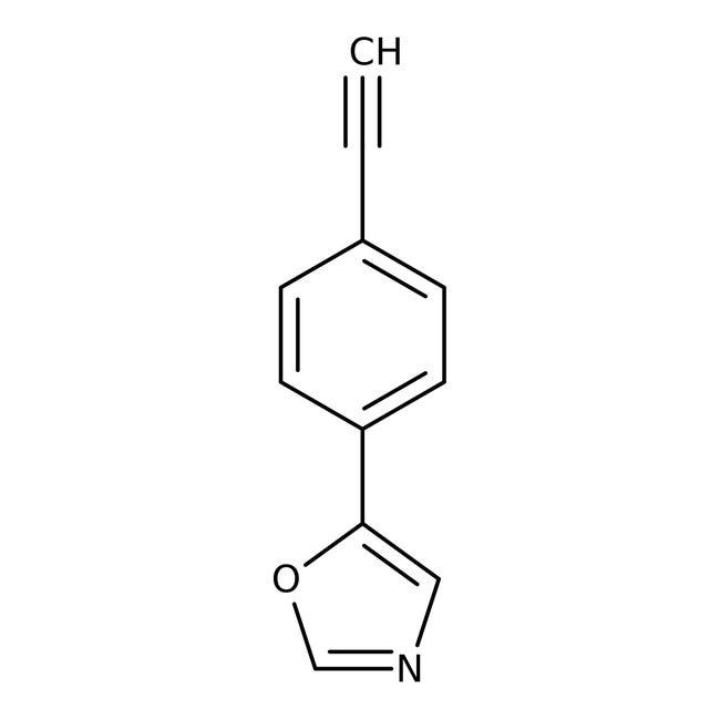 5-(4-Ethynylphenyl)-1,3-oxazol, 97%, Maybridge Braunglasflasche, 1g 5-(4-Ethynylphenyl)-1,3-oxazol, 97%, Maybridge