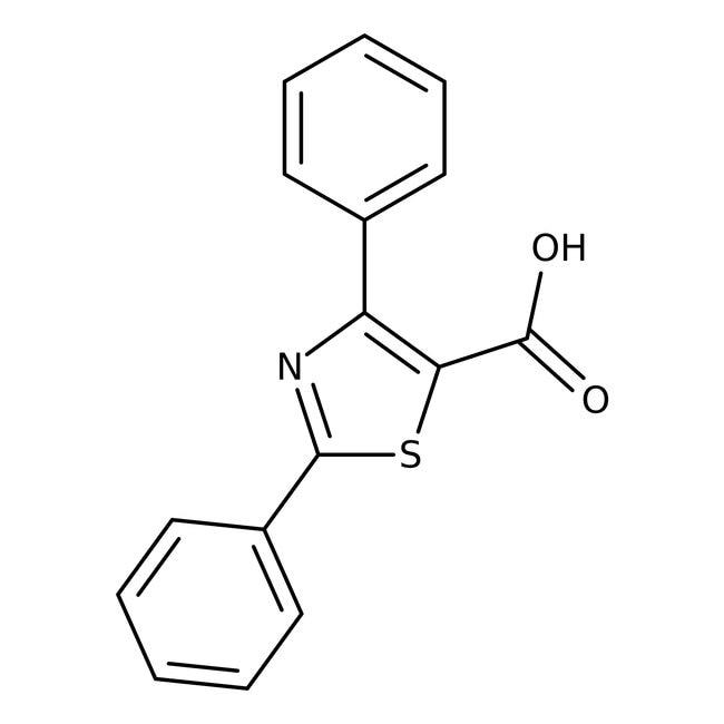 2,4-Diphenyl-1,3-thiazole-5-carboxylic acid, ≥97%, Maybridge Amber Glass Bottle; 1g 2,4-Diphenyl-1,3-thiazole-5-carboxylic acid, ≥97%, Maybridge