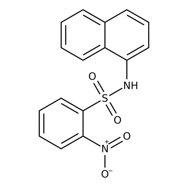Alfa Aesar™N-(1-naphthyl)-2-nitrobenzensulfonamid, 97% 1g Alfa Aesar™N-(1-naphthyl)-2-nitrobenzensulfonamid, 97%