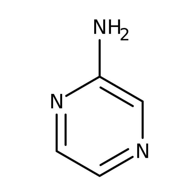 Aminopyrazine, 99+%, ACROS Organics™ 10g; Glass bottle Aminopyrazine, 99+%, ACROS Organics™