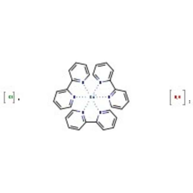Tris(2,2'-bipyridyl)ruthenium(II) chloride, hexahydrate, 98%, ACROS Organics™ 5g; Glass bottle Tris(2,2'-bipyridyl)ruthenium(II) chloride, hexahydrate, 98%, ACROS Organics™