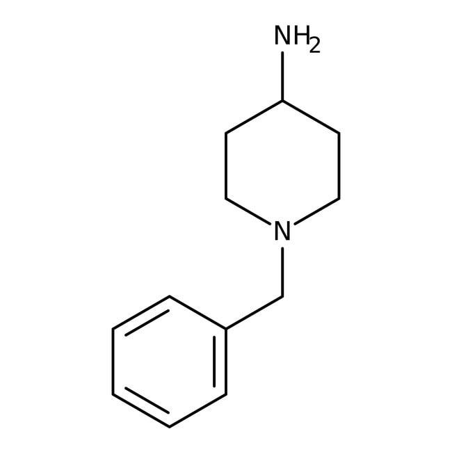 4-Amino-1-benzylpiperidine, 98%, ACROS Organics™ 5g; Glass bottle 4-Amino-1-benzylpiperidine, 98%, ACROS Organics™