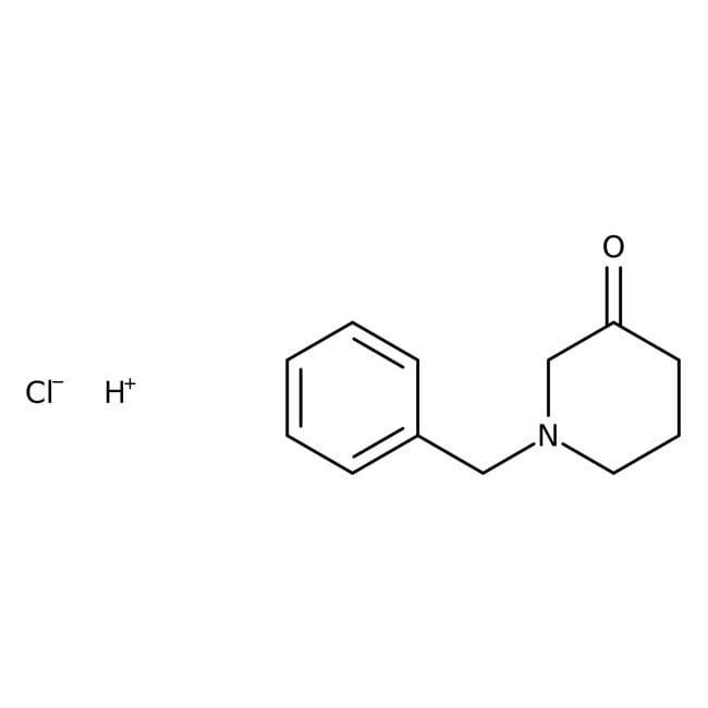 1-Benzyl-3-piperidone hydrate hydrochloride, 95%, ACROS Organics™