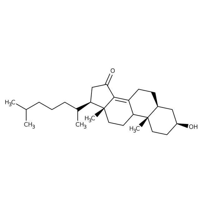 5α -Cholest-8(14)-en-3β-ol-15-one, 97%, Maybridge™ Amber Glass Bottle; 10g 5α -Cholest-8(14)-en-3β-ol-15-one, 97%, Maybridge™