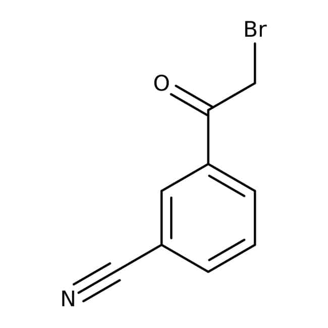 3-(2-Bromoacetyl)benzonitrile, 95%, Maybridge™ Amber Glass Bottle; 25g 3-(2-Bromoacetyl)benzonitrile, 95%, Maybridge™