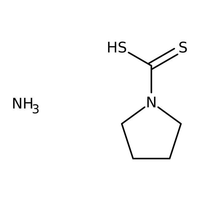 1-Pyrrolidinecarbodithioic acid, ammonium salt, 98%, ACROS Organics™