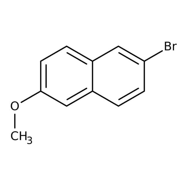 2-Bromo-6-methoxynaphthalene, 98%, ACROS Organics™ 5g; Glass bottle 2-Bromo-6-methoxynaphthalene, 98%, ACROS Organics™