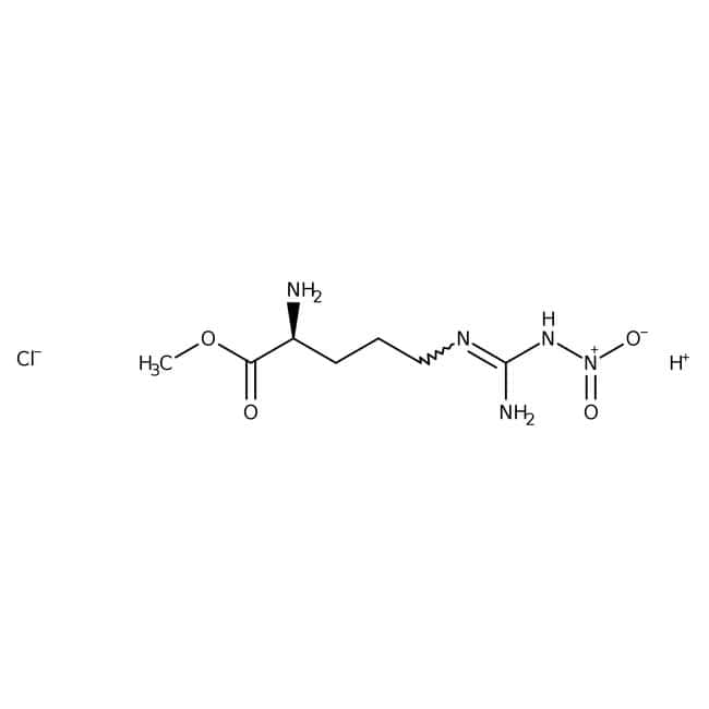 NG-Nitro-L-arginine-methyleester hydrochloride, 98%, ACROS Organics™ 25g; Glass bottle NG-Nitro-L-arginine-methyleester hydrochloride, 98%, ACROS Organics™