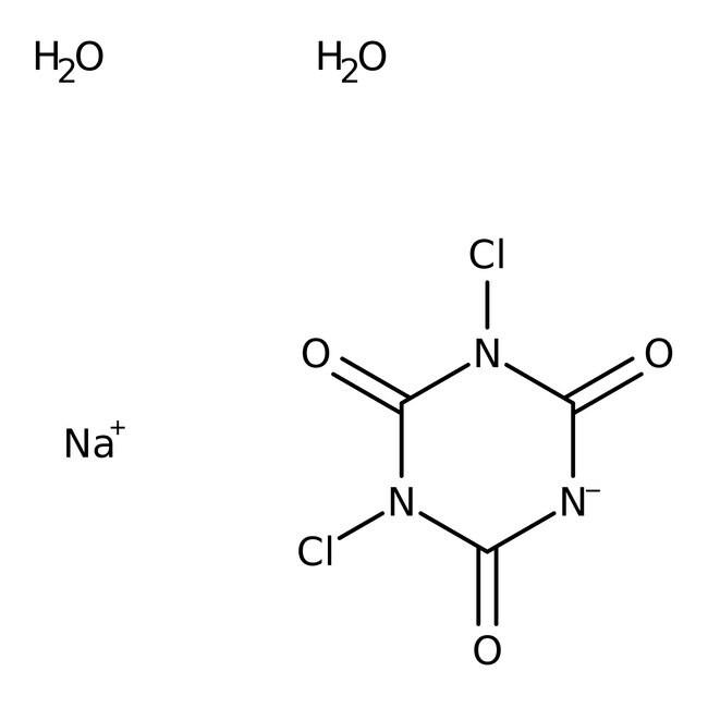 Dichloroisocyanuric acid sodium salt monohydrate, 97%, ACROS Organics™