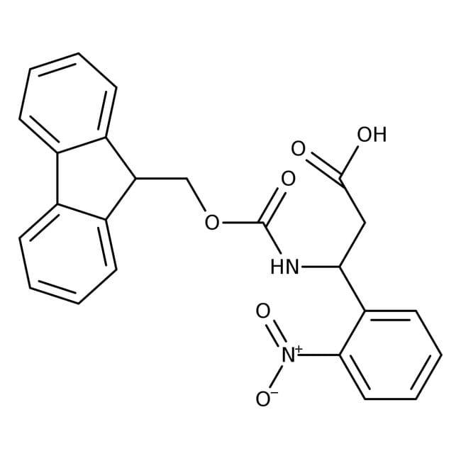 Alfa Aesar™(R)-3-(Fmoc-amino)-3-(2-nitrophenyl)propionic acid, 98% 5g Alfa Aesar™(R)-3-(Fmoc-amino)-3-(2-nitrophenyl)propionic acid, 98%