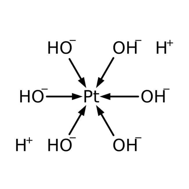 Alfa Aesar™Hexahydroxyplatine dihydrogène(IV), 99,9% (base de métaux), Pt 61,0% min 1g Alfa Aesar™Hexahydroxyplatine dihydrogène(IV), 99,9% (base de métaux), Pt 61,0% min