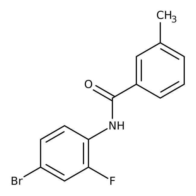 Alfa Aesar™N-(4-Bromo-2-fluorophenyl)-3-methylbenzamide, 97% 1g Alfa Aesar™N-(4-Bromo-2-fluorophenyl)-3-methylbenzamide, 97%