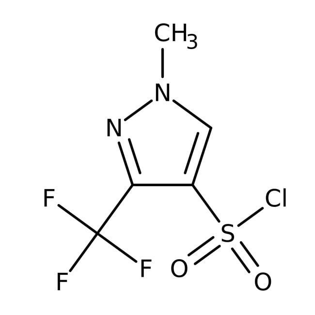 1-Methyl-3-(trifluoromethyl)-1H-pyrazole-4-sulfonyl chloride, 97+%, Maybridge™ Amber Glass Bottle; 5g 1-Methyl-3-(trifluoromethyl)-1H-pyrazole-4-sulfonyl chloride, 97+%, Maybridge™