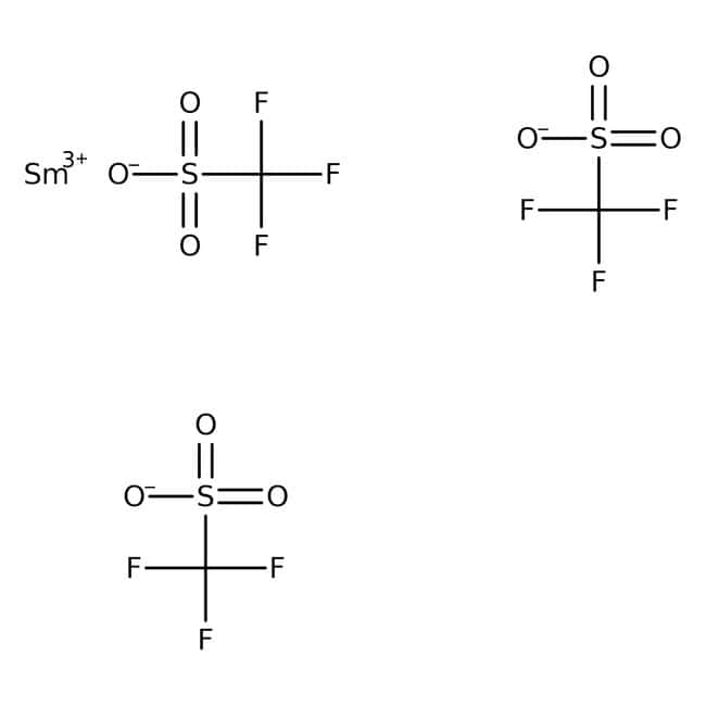 Samarium(III) trifluoromethanesulfonate, 98%, Acros Organics